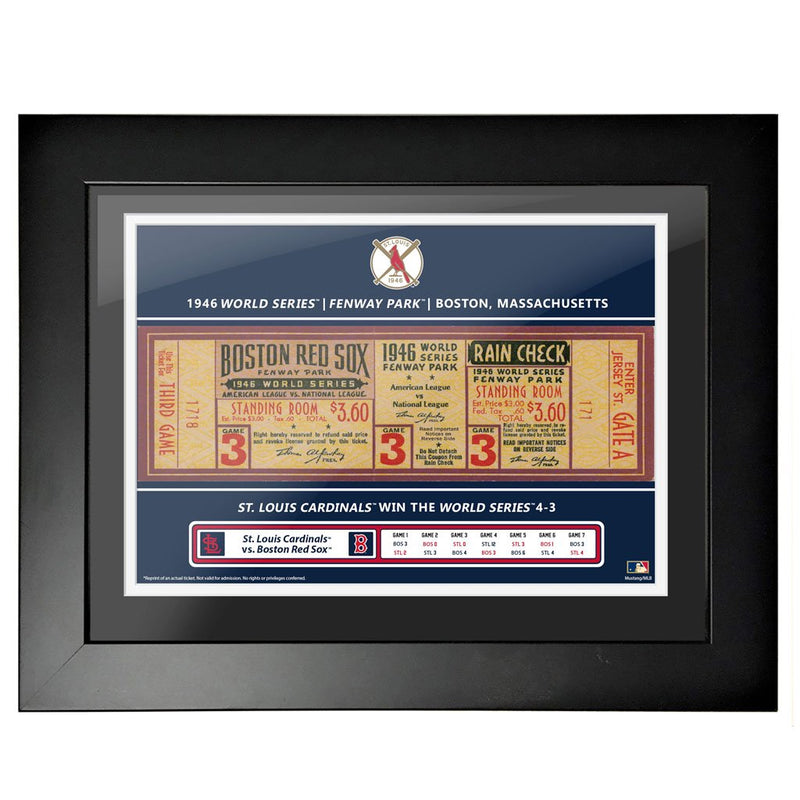 Boston Red Sox 18x24 1946 Game 3 World Series Framed Ticket