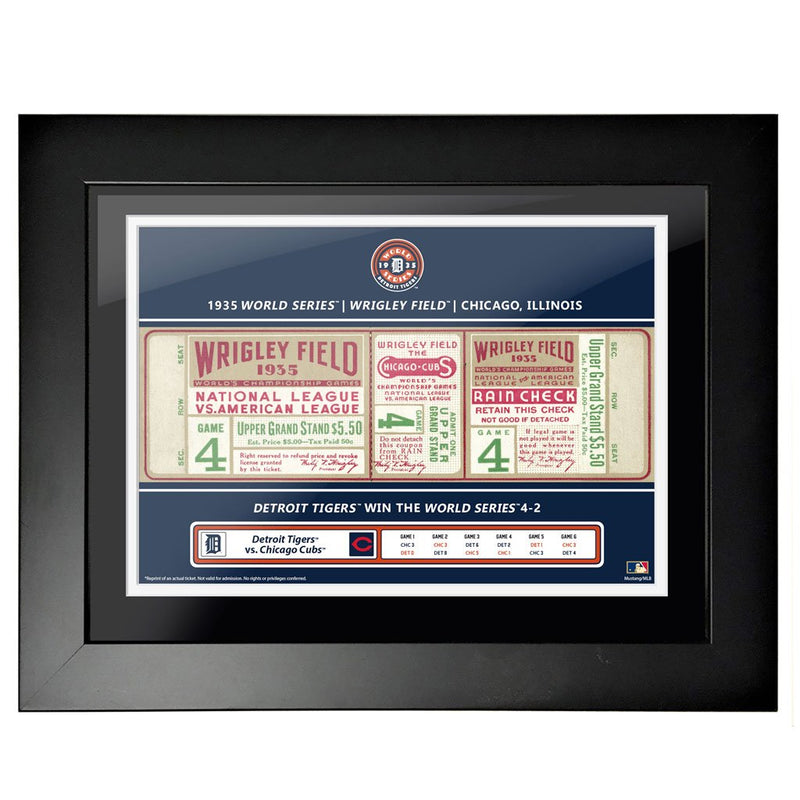 "18""x24"" World Series Ticket Framed Chicago Cubs 1935 G4"