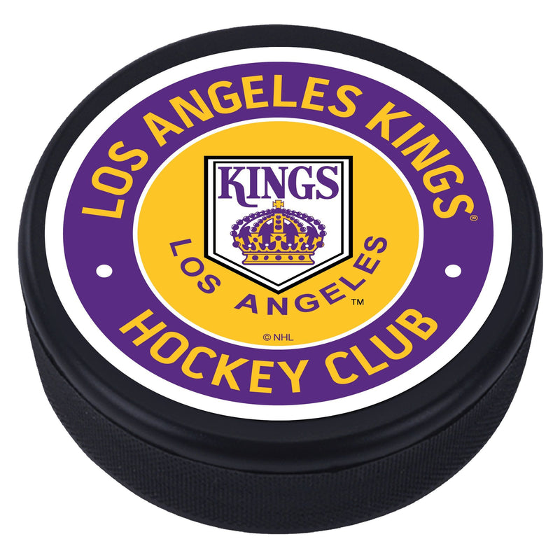 Los Angeles Kings Yellow Vintage Striped Textured Puck