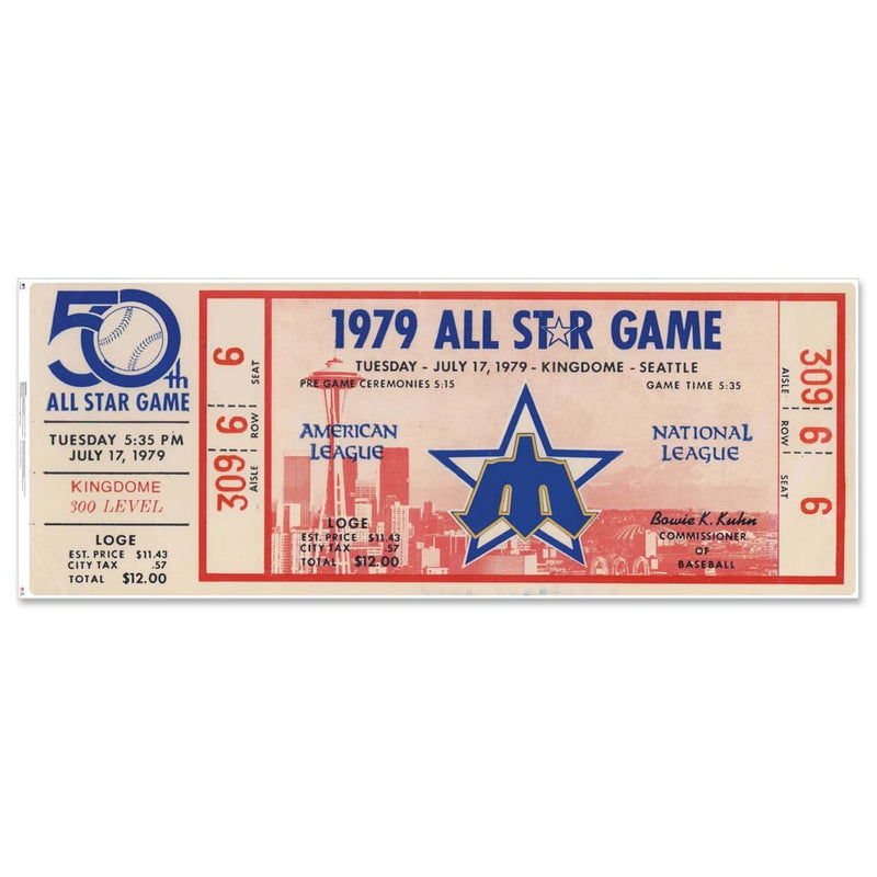 "48"" Repositional All Star Game Ticket - Seattle 1979"