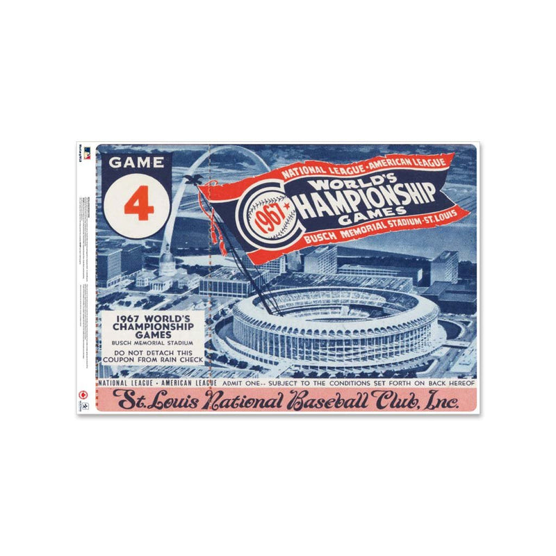 "24"" Repositionable W Series Ticket St. Louis Cardinals Centre 1967G4C"
