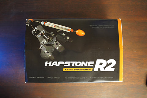 Hapstone Pro Sharpening system shipping box and sleeve
