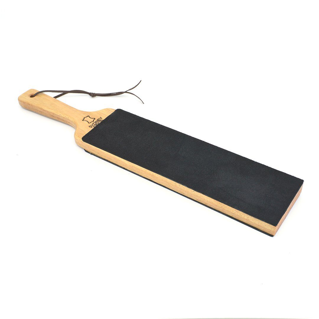 Double-Sided Paddle Strop - Black Cow Leather - Made in Australia