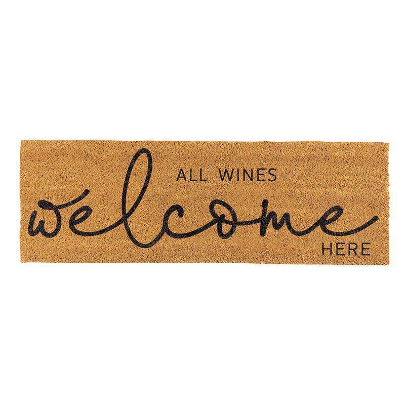 All Wines Welcome Here Door Mat