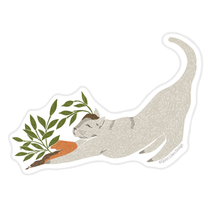 Meddling Cat Sticker