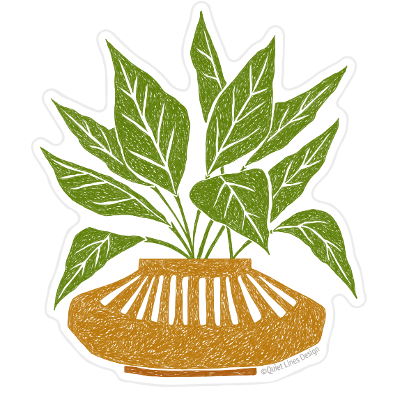 Mustard Planter Sticker