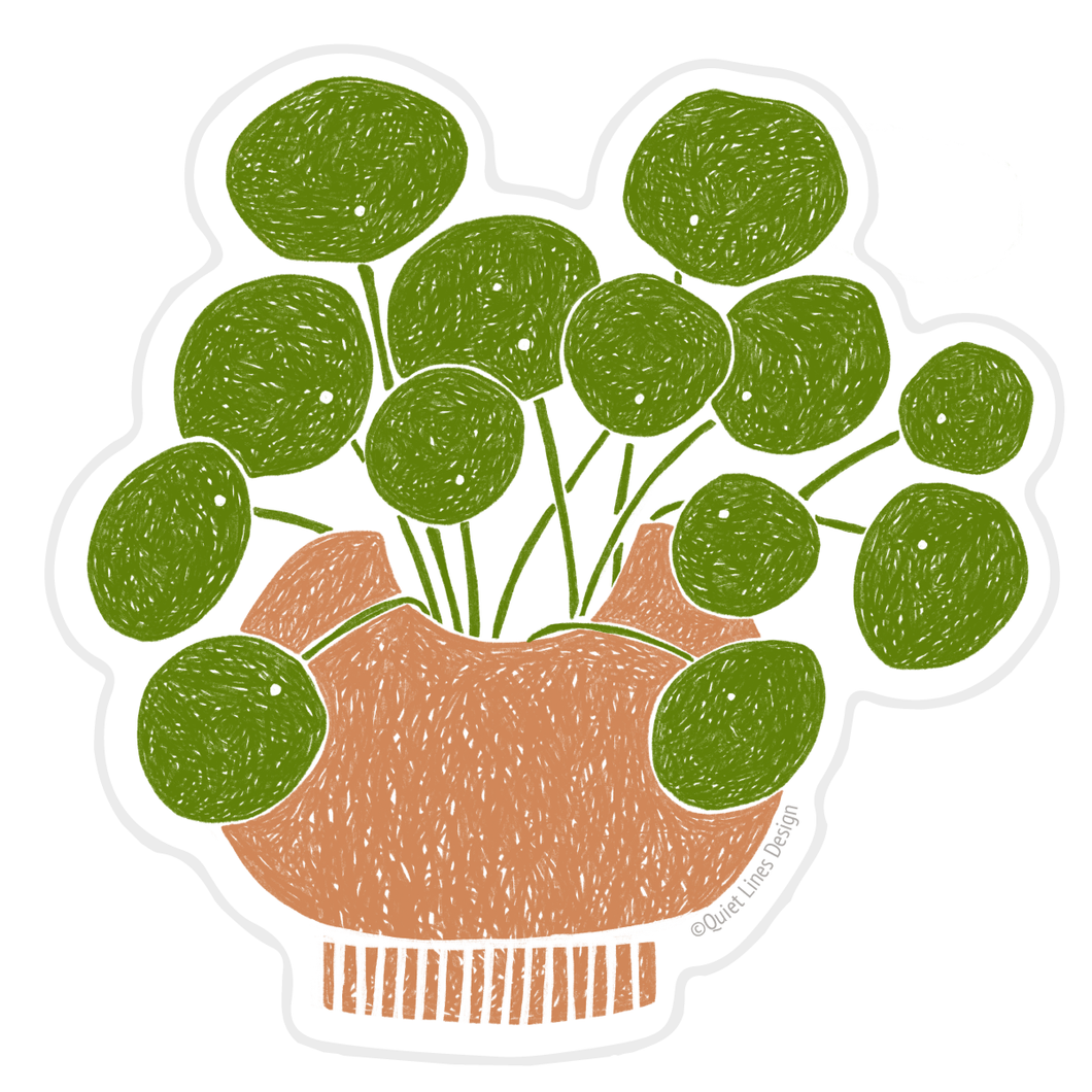 Potted Pilea Sticker
