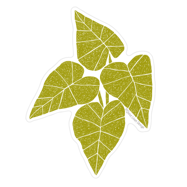 Playful Leaves Sticker