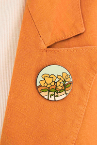 Poppy Field Pin