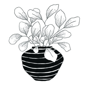 Striped Planter Print