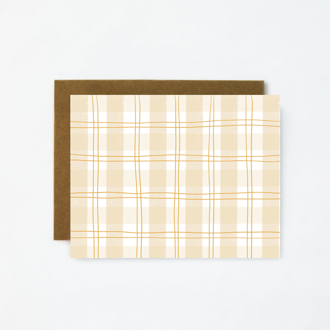 Plaid Card-Blank Greeting Card