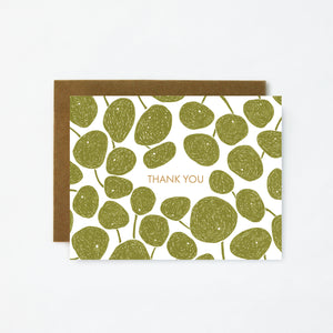 Pilea Thank You Card