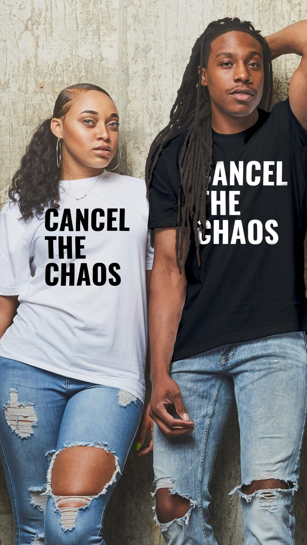 Cancel the Chaos T Shirt - Black