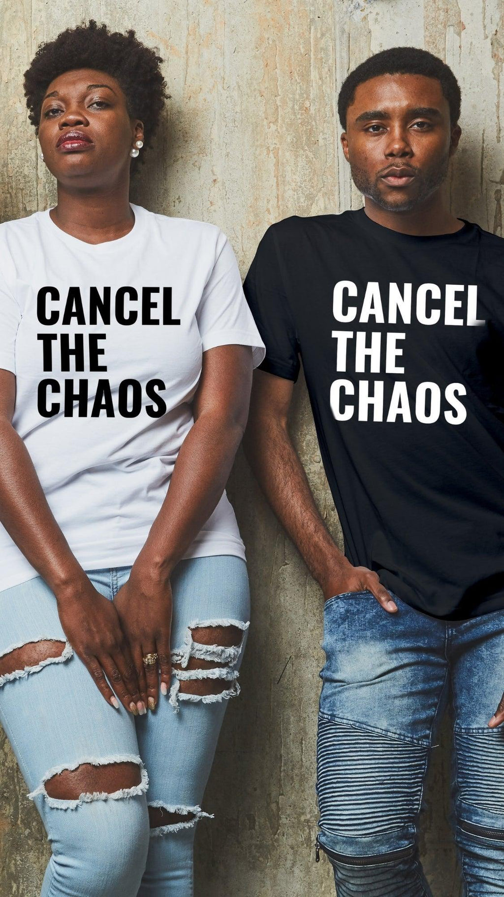 Cancel the Chaos T Shirt - White