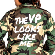 Kamala Harris Army Camo Jacket, My VP Looks Like Me, VP Like Me, Inauguration Gear