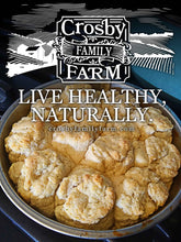 Load image into Gallery viewer, Stone-Ground Homestyle Biscuit Mix from Crosby Family Farm; 12 Ounce