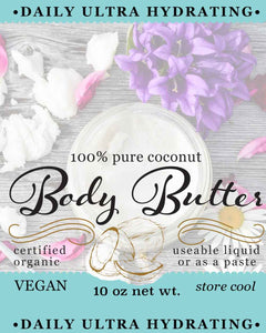 Super Hydrating Organic Body Butter from Crosby Family Farm, 10 Ounce
