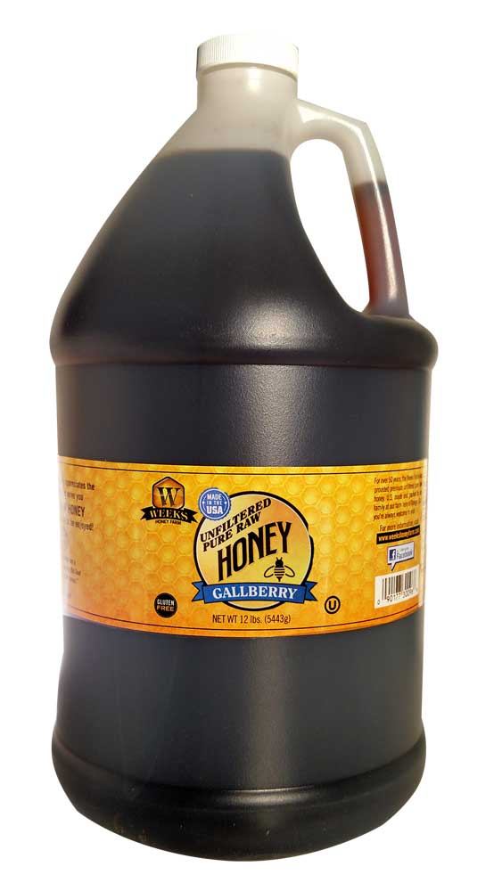 Weeks Honey Farm; Gallberry Honey - 1 Gallon - Weeks Honey Farm, Inc.