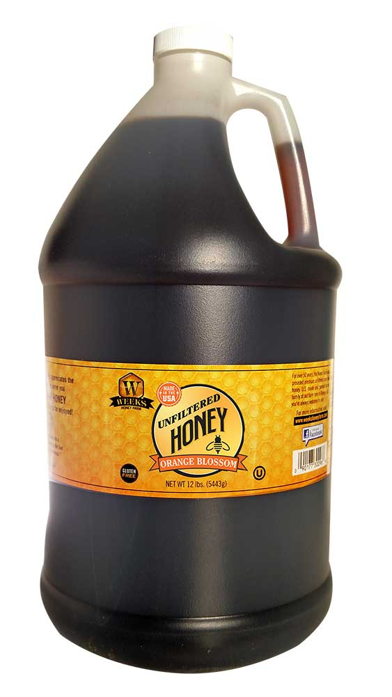 Weeks Honey Farm; Orange Blossom Honey; 1 Gallon - Weeks Honey Farm, Inc.
