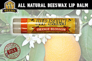 Weeks Honey Farm Orange Blossom All Natural Beeswax Lip Balm - Weeks Honey Farm, Inc.