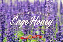 Load image into Gallery viewer, Weeks Honey Farm Sage Honey; 16 Ounce