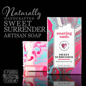 Sweet Surrender Artisan Soap presented by Crosby Family Farm; 4 Ounces