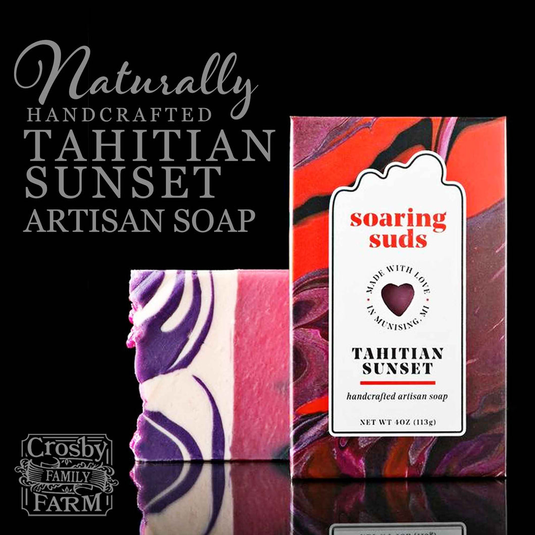 Tahitian Sunset Artisan Soap presented by Crosby Family Farm; 4 Ounces