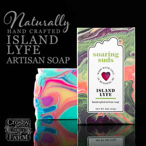 Island Lyfe Artisan Soap presented by Crosby Family Farm; 4 Ounces
