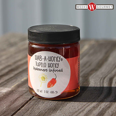 Weeks Gourmet presents Hab-A-Honey® Habanero Infused Tupelo Honey; 3 Ounce - Weeks Honey Farm, Inc.