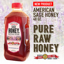 Load image into Gallery viewer, Weeks Honey Farm; American Sage Honey; 48 Ounce - Weeks Honey Farm, Inc.