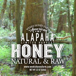 Weeks Honey Farm; American Alapaha Honey - Glass Jar; 22 Ounce - Weeks Honey Farm, Inc.