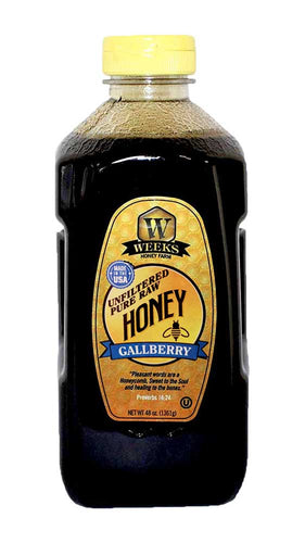 Weeks Honey Farm; Gallberry Honey; 48 Ounce - Weeks Honey Farm, Inc.