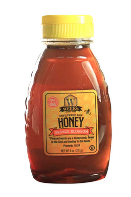 Weeks Honey Farm; Orange Blossom Honey; 8 Ounce - Weeks Honey Farm, Inc.