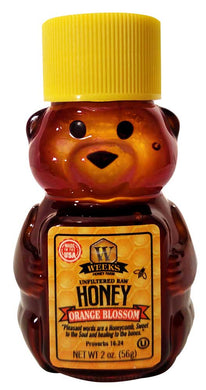 Weeks Honey Farm; Orange Blossom Honey Bear; 2 Ounce - Weeks Honey Farm, Inc.