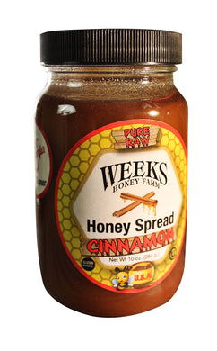 6 Pack of The Original Honey Cinnamon Spread; 10 oz. - Weeks Honey Farm, Inc.