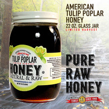 Load image into Gallery viewer, Weeks Honey Farm Tulip Poplar Honey- Glass Jar; 22 Ounce - Weeks Honey Farm, Inc.