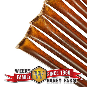 SPECIAL 12 Pack of 12 Count Weeks Honey Farm Honey Clover Straws; 144 straws total - Weeks Honey Farm, Inc.