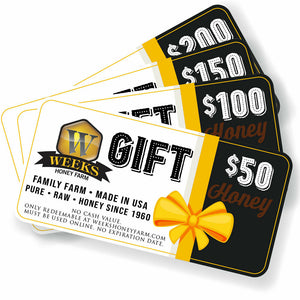 Weeks Honey Farm Gift Cards - Weeks Honey Farm, Inc.