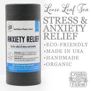 Anxiety Relief Tea +FREE Ceylon Cinnamon presented by Crosby Family Farm; 1.3 Ounces