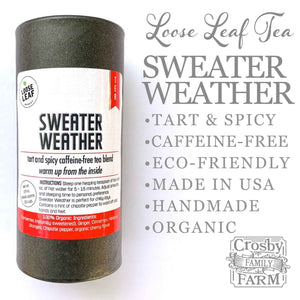 Sweater Weather Tea +FREE Ceylon Cinnamon presented by Crosby Family Farm; 2.9 Ounces