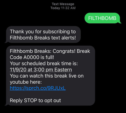 filthbomb break live full text
