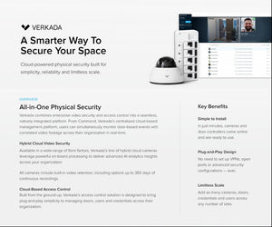 Verkada - CD41-E (5MP) Intelligent Video Analytics Outdoor Dome Camera 1 Year License included