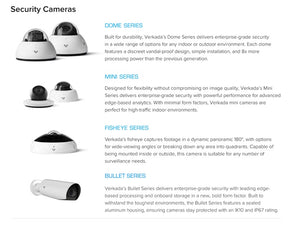 Verkada - CD31-E (2MP) Intelligent Video Analytics Outdoor Dome Camera 1 Year License included