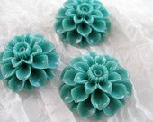 2 PCS Blue 36 mm Chrysanthemum Cabochon
