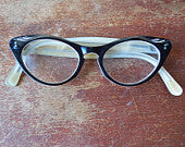 Vintage French Glasses - Cat's Eye Eyeglass Frames