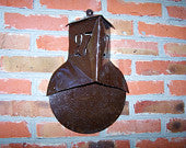 Vintage House Number Sign 27 made in Soviet times