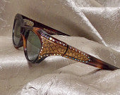 Vintage Rhinestone Cat Eye Glasses