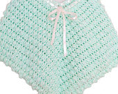 Crochet Poncho Baby Iced Mint