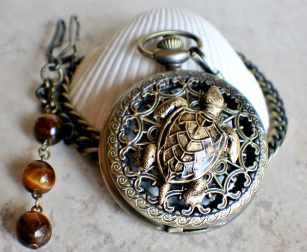 Sea Turtle Mechanical Pocket Watch - Char's Favorite Things - 3