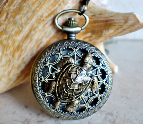 Sea Turtle Mechanical Pocket Watch - Char's Favorite Things - 1